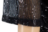 Shiny Sequined Half Sleeve Mini Dress SFY-195