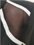 Casual Mesh Patchwork Zipper Jumpsuit AL-223