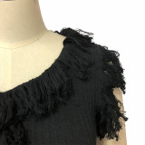 Sexy Tassel Sleeveless Midi Dress YF-9538