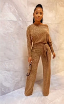 Elegant Long Sleeve And Straight Pants Two Piece Set APLF-1005