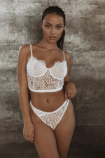 Sexy Lace Hollow Out 2 Pieces Lingerie Sets YQ-W417