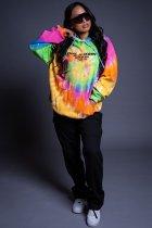 Thicken Tie-dye Fashion Pullover Hooded Sweatshirt APLF-1126
