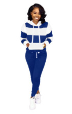Plus Size Casual Sports Hooded Sweatshirts And Pants Suit OMY-5172