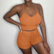 Fashion Sexy Camisole Shorts Suit OMY-8039