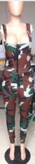 Plus Size Fashion Camouflage Print Pants YUHF-8034