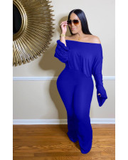 Off Shoulder Flare Sleeve Top And Pants Two Piece Set ZLF-825