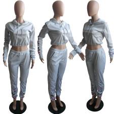 Fashion Slim Printed Long Sleeve Pants Two Piece Set LJF-6038