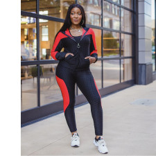 Casual Sports Hooded Zipper Two Piece Sets SMR-9948
