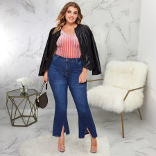 Plus Size 5XL Denim Stretch Fat MM Jeans HSF-2387