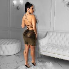 Sexy Shiny Strappy Backless Club Dress CYA-8826