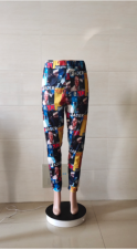 Plus Size 5XL Printed Comfortable Sports Casual Pants WTF-9051
