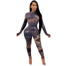 Plus Size Fashion Sexy Printed Jumpsuit WXF-8023