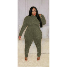 Plus Size 5XL Beading Long Sleeve Jumpsuits CYA-1409
