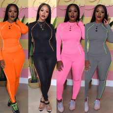 Casual Sports Long Sleeve Two Piece Sets TE-4174