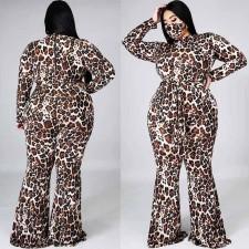 Plus Size 5XL Leopard Print Jumpsuits Without Mask WAF-7137