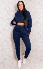 Casual Tracksuit Hoodie Two Piece Pants Set XMY-9289