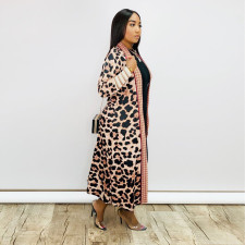 Casual Printed Full Sleeeve Long Cloack Coat ME-702