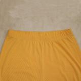 Casual Patchwork Long Sleeve Two Piece Pants Set CYA-8851