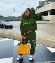 Fashion Letter Print Hooded Sweatshirts And Pants Two Piece Set OYF-8240