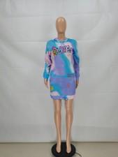 Casual Fashion Printed Hooded Dress FENF-074