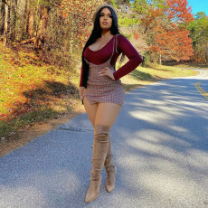 Sexy Long Sleeve Tops+Strap Plaid Mini Dress 2 Piece Sets SZF-9015