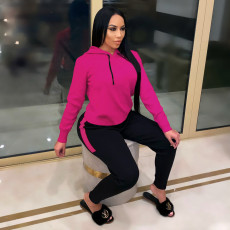 Casual Sports Hoodie Two Piece Pants Set FOSF-8025