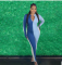 Sexy Long Sleeve Zipper Slim Fit Jumpsuits SZF-6096