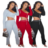 Casual Irregular Top And Pants Two Piece Sets TE-4183
