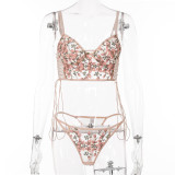 Sexy Embroidery Bra G-String Lingerie Sets MDNF-14271