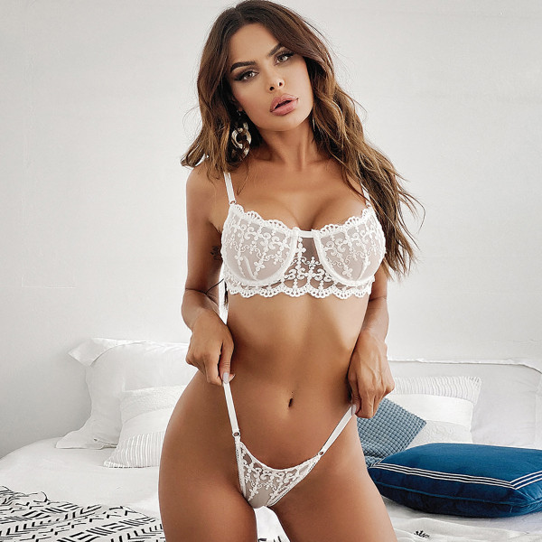 Sexy Lace With Steel-ring Lingerie Sets MDNF-12160