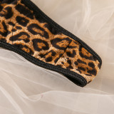 Sexy Leopard With Steel-ring Lingerie Sets MDNF-12648