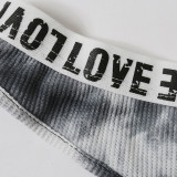 Tie Dye Sports Tank Top Briefs Lingerie Sets MDNF-12753