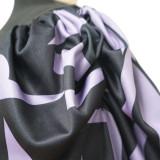 Plus Size Printed Splice Lantern Sleeve Slim-fit T-Shirt Top NNWF-7051