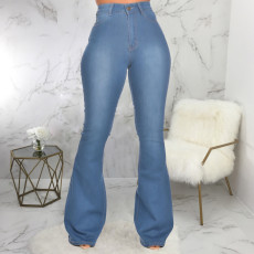 Denim Mid-Waist Skinny Flared Jeans HSF-2297
