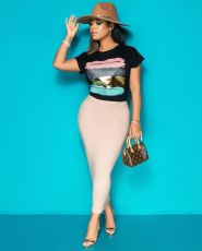 Fashion Printed Casual Short Sleeve T-shirt APLF-5003