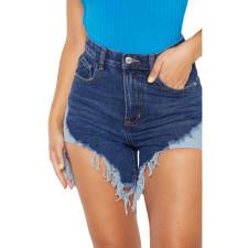 Denim Tassel Skinny Jeans Shorts HSF-2338