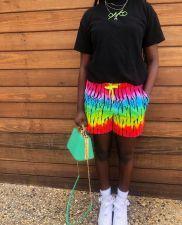 Colorful Printed Pocket Casual Shorts LQ-004