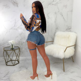 Denim Ripped Hole Jeans Shorts HSF-2064