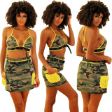 Beach Casual Fashion Camouflage Two Piece Sets TEN-207