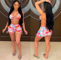 Sexy Printed Bra Top And Shorts Two Piece Suits LSL-6420
