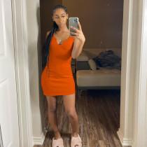 Sexy Sleeveless Slim Mini Dress FOSF-8066
