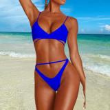 Sexy Solid 2pcs Swimwear Bandage Bikinis Set DYF-1069