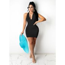 Sexy Halter Backless Bodycon Mini Dress FOSF-8065