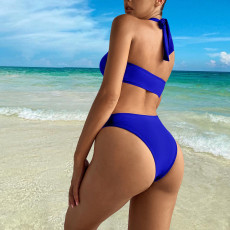 Sexy Solid Hollow Out One-Piece Swimsuit DYF-1067