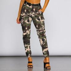 Camo Print High Waist Casual Pants HSF-2314
