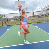 Casual Sports Cami Top And Shorts 2 Piece Sets NSFF-8047