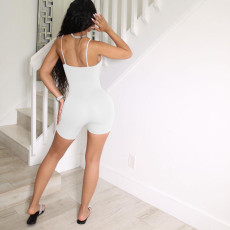 Fashion Sexy Solid Color Hollow Out Slim Fit Rompers YM-9281