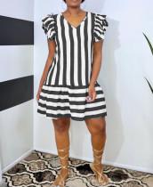 Fashion Casual Striped Print Dress WAF-7169