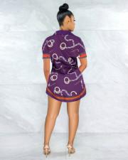 Plus Size Fashion Slim Print Short Sleeve Shirt LS-0341