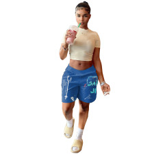 Fashion Printed Loose Casual Shorts YIBF-6039